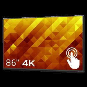 GoDisplay Digital skylt 86″ 4K – Touch